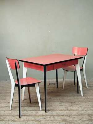 Pink World Map Pink Formica Table ...